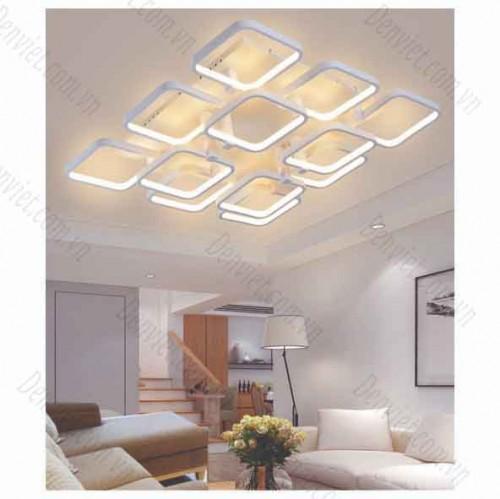 Đèn áp trần LED nghệ thuật vuông 12 cánh YMT1091/8+4