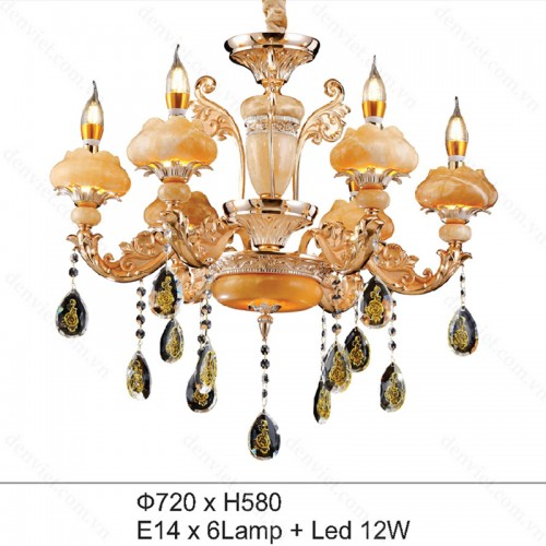 Đèn chùm pha lên nến cao cấp trang trí nội thất cực đẹp