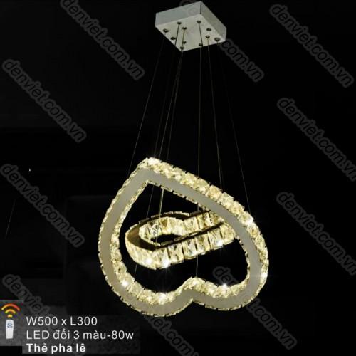 Đèn chùm thả pha lê cao cấp trang trí nội thất sang trọng
