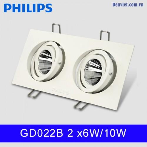 Đèn LED âm trần Philips GD022B 2x6w10W