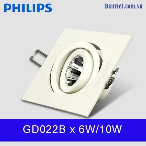 Đèn LED Downlight âm trần GD022B 1x6W10W