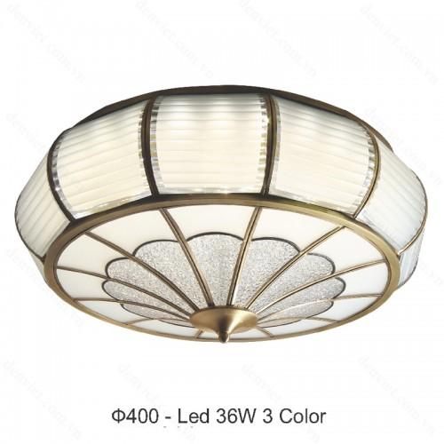 Đèn mâm áp trần đồng cao cấp trang trí nội thất hiện đại