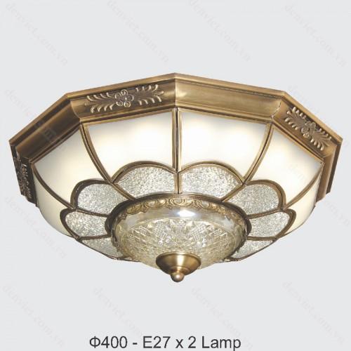 Đèn mâm áp trần đồng cao cấp trang trí nội thất sang trọng
