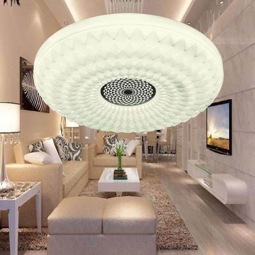 Đèn mâm Led áp trần , thiết kế đơn giản, sang trọng, ánh sáng Led 3 màu ML1301