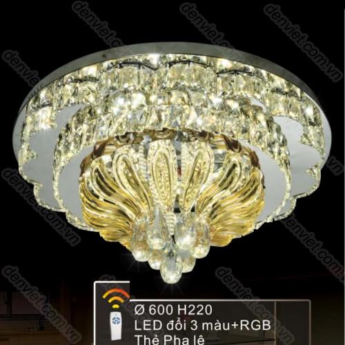 Đèn mâm LED tròn cao cấp trang trí phòng khách đẹp BML6357