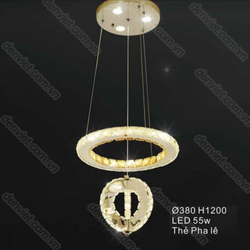 Đèn thả pha lê cao cấp trang trí nội thất cực đẹp