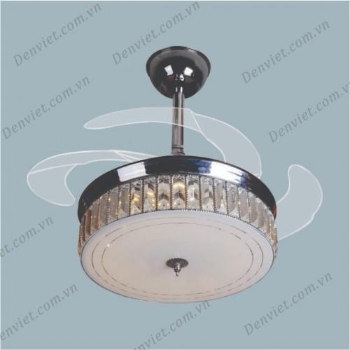 Quạt trần đèn thiết kế sang trọng trang trí phòng khách YQT15